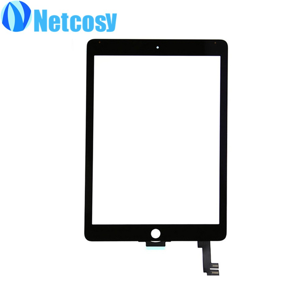 For Apple Air 2 touch panel Black / White Touch Screen Glass Digitizer Replacement parts for iPad Air 2 replacement glass touch screen digitizer for oppo x909 black