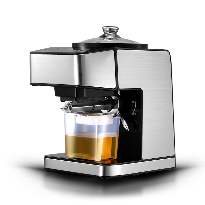 BEIJAMEI Electric Small oil Extractor Automatic Hot Cold Fried Oil press machine commercial peanut oil press maker machine new automatic small home oil press machine cold hot press for peanut coconut sunflower seeds oil extractor oil press machine