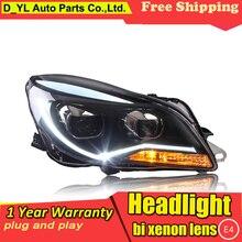 Стайлинг автомобиля фары для Регал- светодиодный фонарь для Rega Головной фонарь СВЕТОДИОДНЫЙ дневной ходовой свет светодиодный DRL биксеноновый HID
