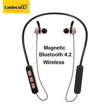 Caldecott Magnética Airpods Bluetooth fone de ouvido Auriculares para el iphone de Carga USB Para El Teléfono Inteligente Auriculares diente Azul
