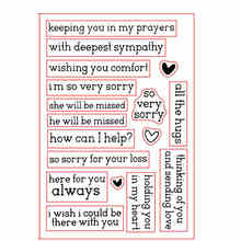 All the Hugs Here for You Always Very Sorry Phrases Transparent Clear Silicone Stamps For DIY Scrapbooking Cards Making New 2019