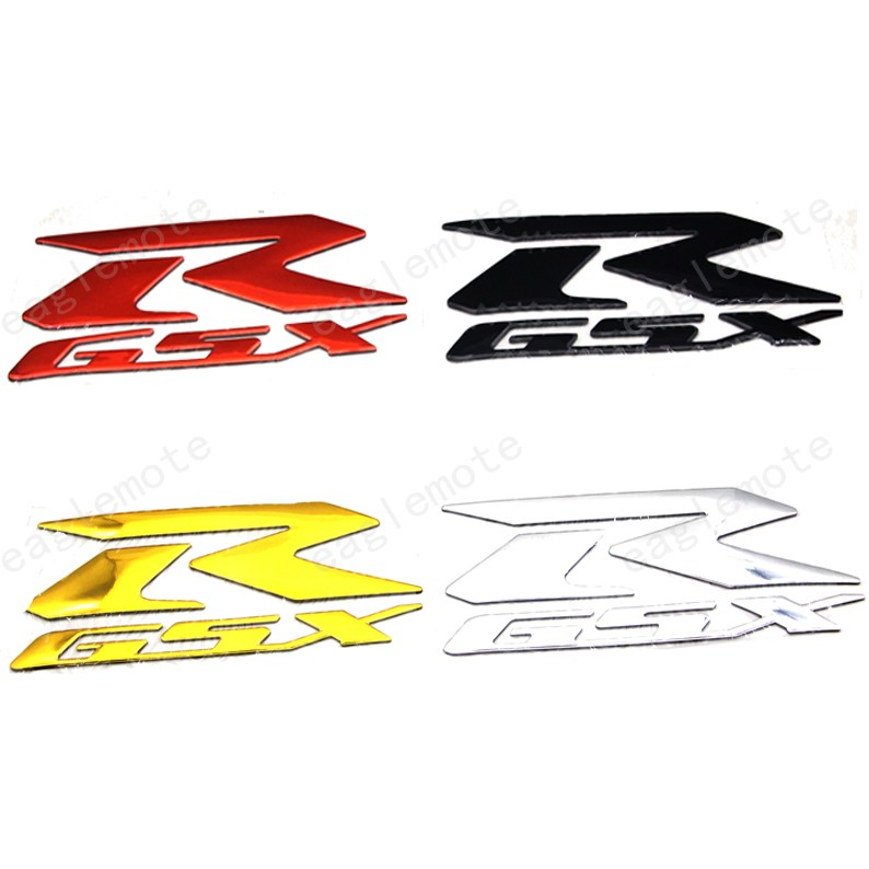 2X Motorcycle <font><b>GSXR</b></font> Logo Emblem <font><b>Stickers</b></font> Decal 3D Raise R For <font><b>Suzuki</b></font> Hayabusa GSXR1000 GSX-R <font><b>600</b></font> 750 1300 image