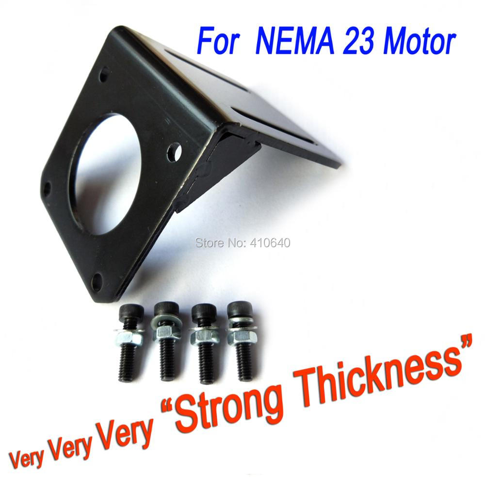 Thick and Strong <font><b>Mount</b></font> for <font><b>NEMA</b></font> <font><b>23</b></font> <font><b>Stepper</b></font> Motor Screw for free Universal Application THICKER <font><b>Bracket</b></font> for 57mm Frame Step Motor image
