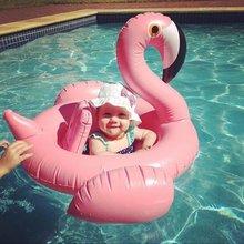 Детские Фламинго надувной матрас для бассейна-Надувные Младенца Фламинго Плавание кольцо поплавок для бассейна-популярный малышей пляжная игрушка
