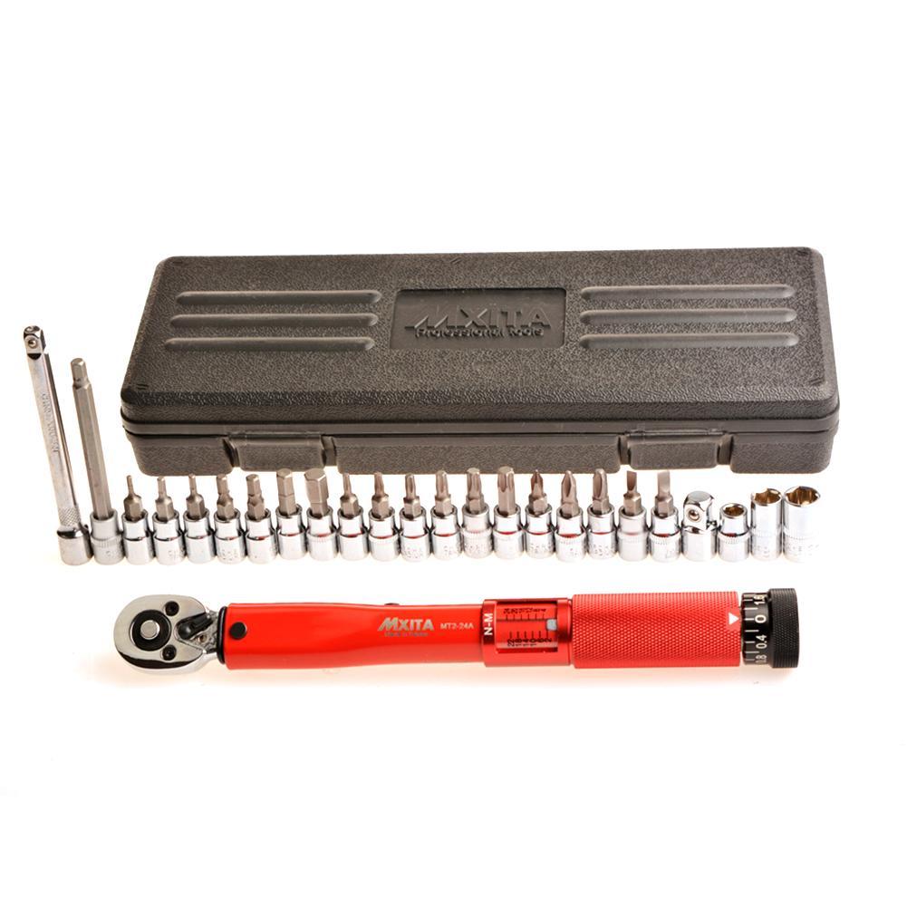 20/25 piezas de la bicicleta herramienta de acero ajustable llave Allen herramienta clave hembra Kit 2-24NM reparación herramientas de alta calidad - 2