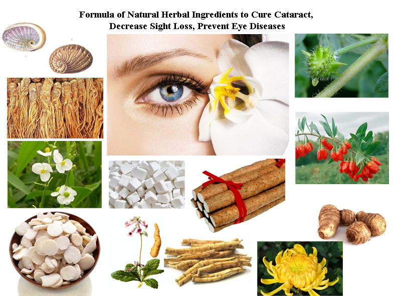 Formula Of Natural Herbal Ingredients To Cure Cataract,  Decrease Sight Loss, Prevent Eye Diseases