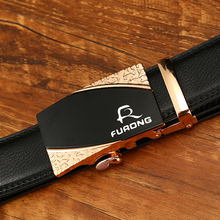 FURONG Business Man Belts Genuine Cow Leather Brand Designer Luxury Fine Alloy Automatic Type FR225