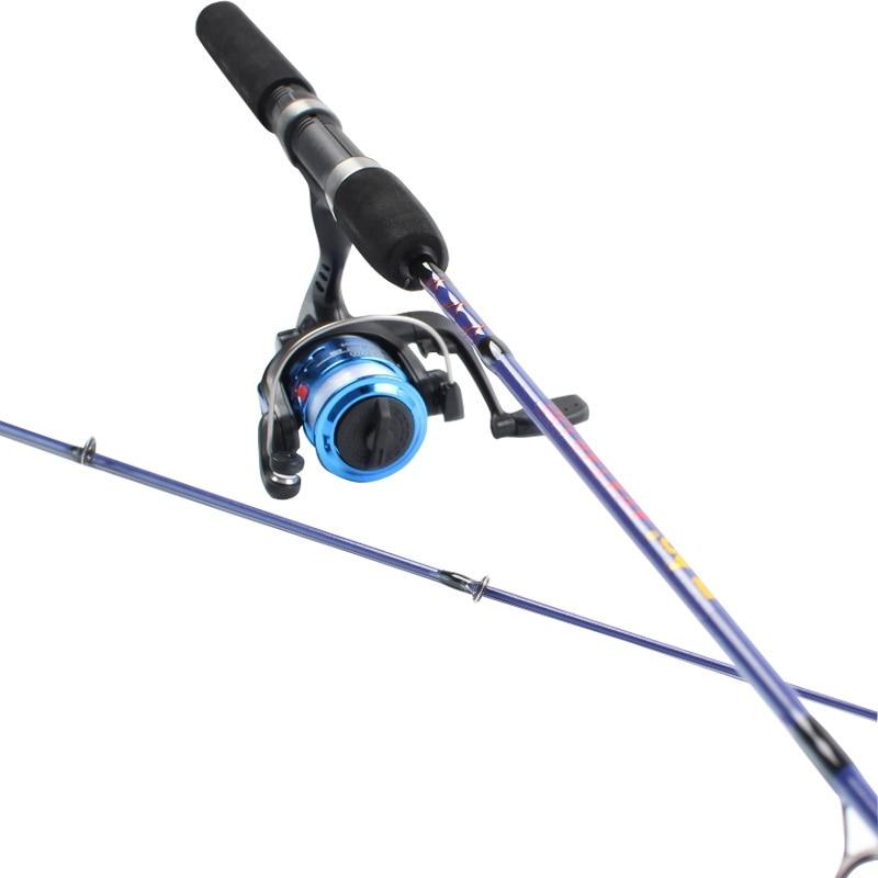 high Strength Ice fishing 1.2 / 1.5 meters raft fishing rods wheel sets of winter fishing line round ,fishing rods
