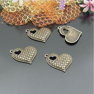 DIY charms for fashion jewelry 20*22MM alloy diy love charm 20pcs/ lot  wholesale free shipping