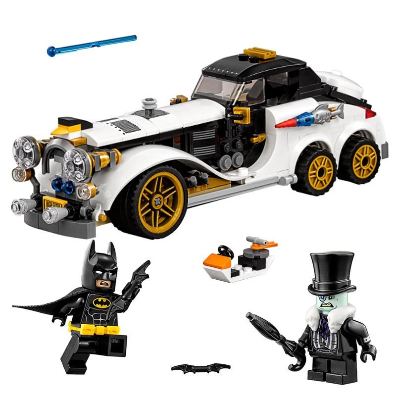 316pcs Batman Series Arctic War Penguin Classic Car Set Building Blocks Bricks Toys Compatiable With LegoINGly Batman