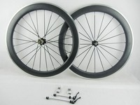 New carbon fiber road bicycle wheel with alloy brake surface carbon road wheel alloy brake side