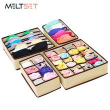 hot deal buy 4 size underwear bra socks storage box closet wardrobe organizer box drawer for ties scarfs shorts lingerie home storage boxes