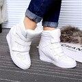 Venta caliente Otoño Invierno Estilo Mujeres Zapatos con Cuña Oculta Tacones Botas de Las Mujeres Ascensor Zapatos Casuales Para Mujeres