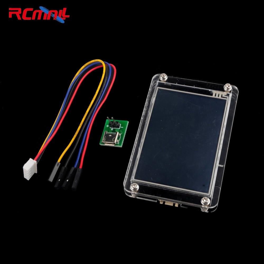 RCmall Nextion Enhanced 3.5  HMI Touch Display for Arduino Raspberry Pi with Acrylica Case FZ1753EC