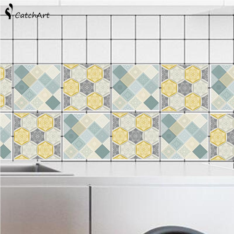 retro pvc etiqueta de la pared bao cocina adhesivo de azulejo de mosaico papel pintado auto