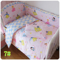 Hot Baby bedding kit  crib bumper 100% cotton crib bedding package babies boys and girls pattern cotton bed around