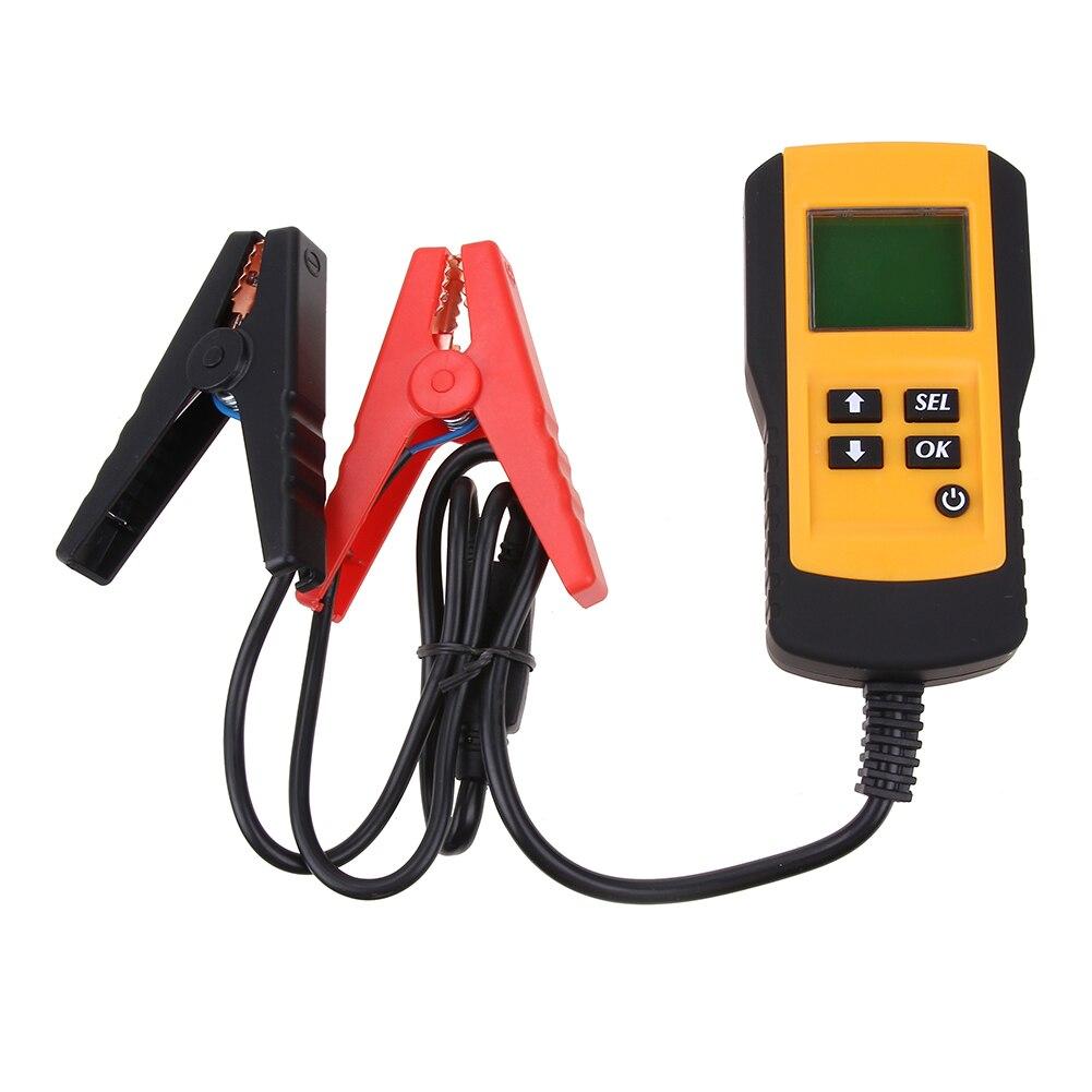 12V LCD Digital Car Battery Tester Auto System Analyzer Automotive Vehicle Battery Voltage ohm Tester Resistance Diagnostic Tool