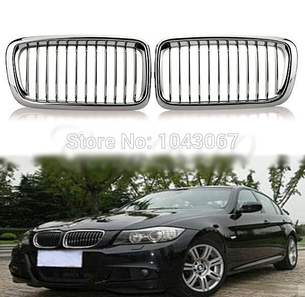 Chrome Front Kidney Hood Grille For BMW E38 740i/iL 750iL 1995 2001 Sedan 4Door