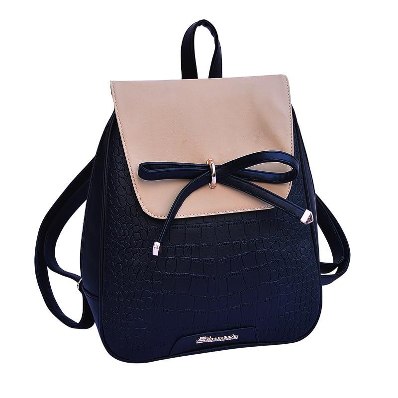 Women Backpacks 2017 New Designer Leather Backpack Bow ...