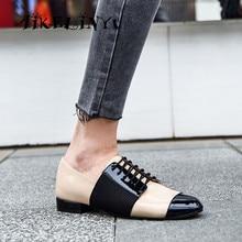 купить AIKELINYU Brand Lady Casual Flats Mixed Colors Round Toe Patent Leather Slip on Flats High Quality Handmade Office Lady Shoes по цене 4753.93 рублей