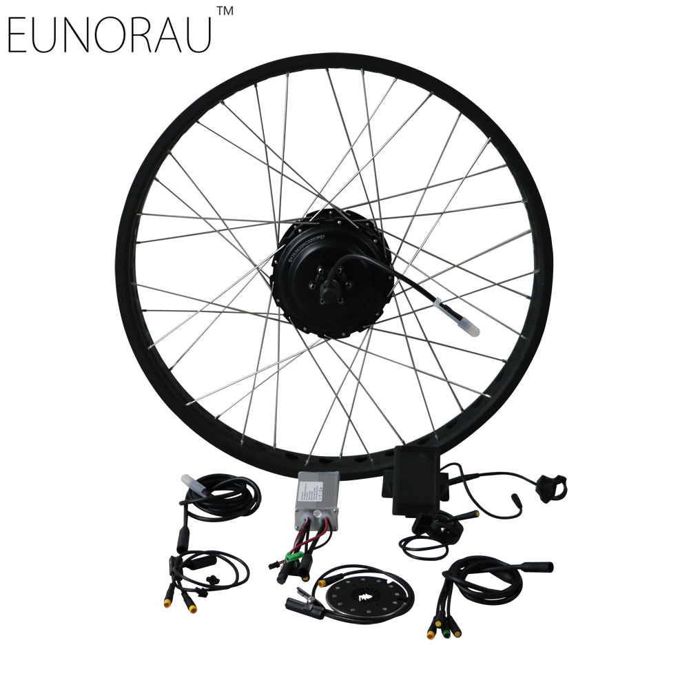 Kit vélo électrique 48 V 500 W Shengyi DGW25 cassette gros pneu vélo électrique roue arrière Ebike Kits de Conversion 20 '', 26''