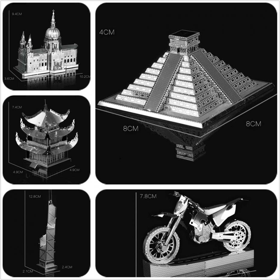 Aliexpress Com Buy Metal Tower Motorcycle 3d Puzzle