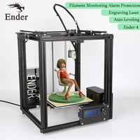Ender 4 3D Printer Laser Engraving,Auto Leveling,Filament Monitoring Alarm ,Large Print Size 220*220*300 Prusa i3 Printer 3D kit