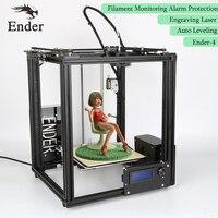 Ender 4 3D Printer Laser Engraving,Auto Leveling,Filament Monitoring Alarm ,Large Print Size 220*220*300 Prusa i3 Printer 3D kit