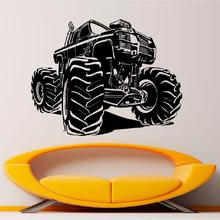 Wall Decal Monster Truck Vinyl Racing Car Sticker Art Mural House Living Room Garage Interior Removable Home Poster Decor WW-175 road wall decal highway vinyl sticker street wall art kids racing road bedroom living roon home decoration removable diy ww 182