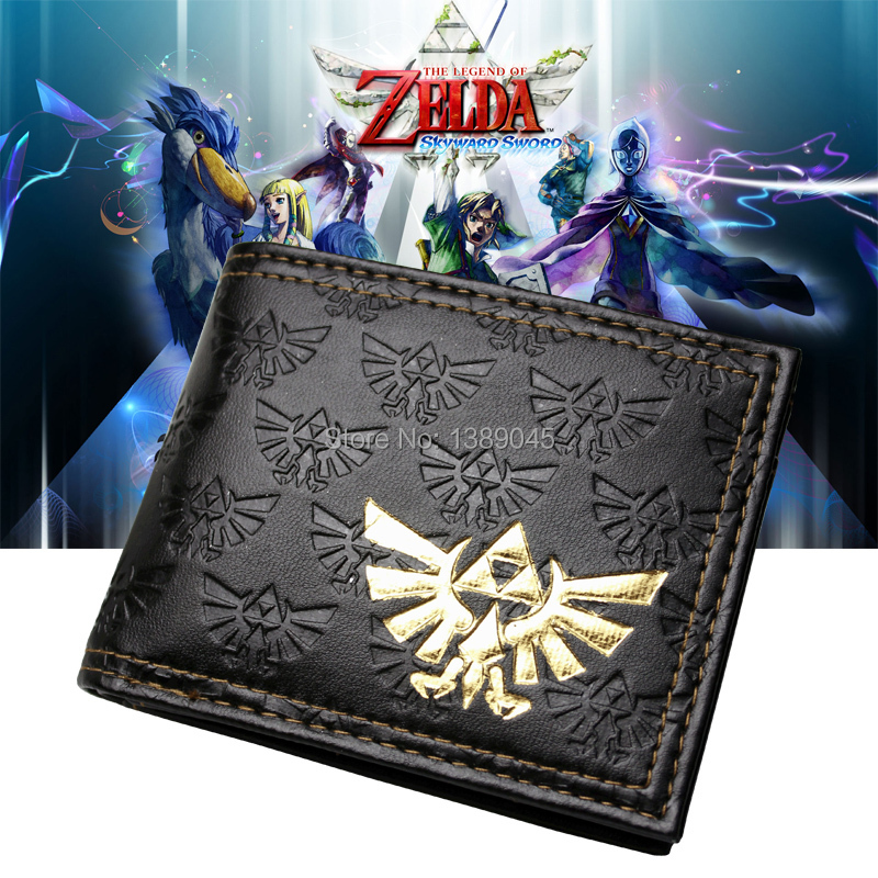 The Legend Of Zelda All Over Emboss With Gold Foil Bi-Fold Wallet Women Purse DFT-1105