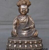 9 Tibet Temple Silver India Buddhism Guru Rinpoche Padmasambhava buddha statue