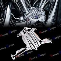 Chrome Tappet Lifter Block Accent Cover For Harley Twin Cam Street Glide Road King 00 16