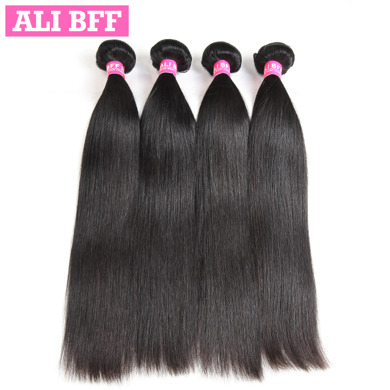 Али BFF 4 пучки перуанский прямые волосы человеческих волос 4 Связки Волосы remy Бесплатная доставка натуральный черный могут быть окрашены