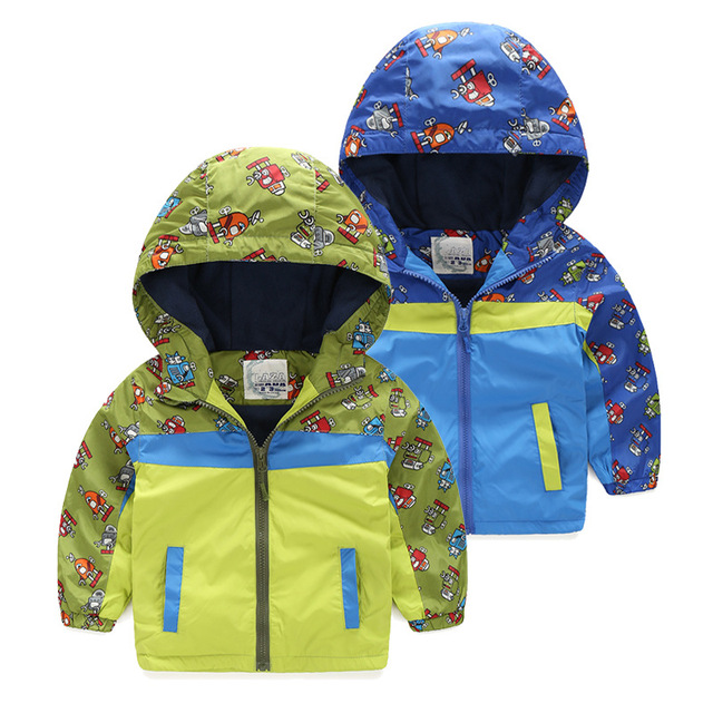 38dbcef8055e Bayi Laki laki Jaket dan Mantel Robot Dicetak Lengan Panjang Blus ...