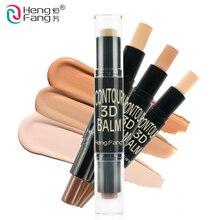 Hengfang Brand 2 in 1 Complexion Embellish 3D Face Makeup Cream Shimmer Bronzer and Highlighter Contour Concealer Stick Pen
