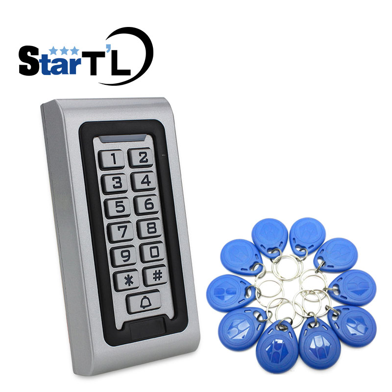 IP68 Waterproof RFID/EM Keypad Proximity Door Access Control System Metal Access Control Door Opener sigle door access control with keypad em card access control system simple door access control without software em lock