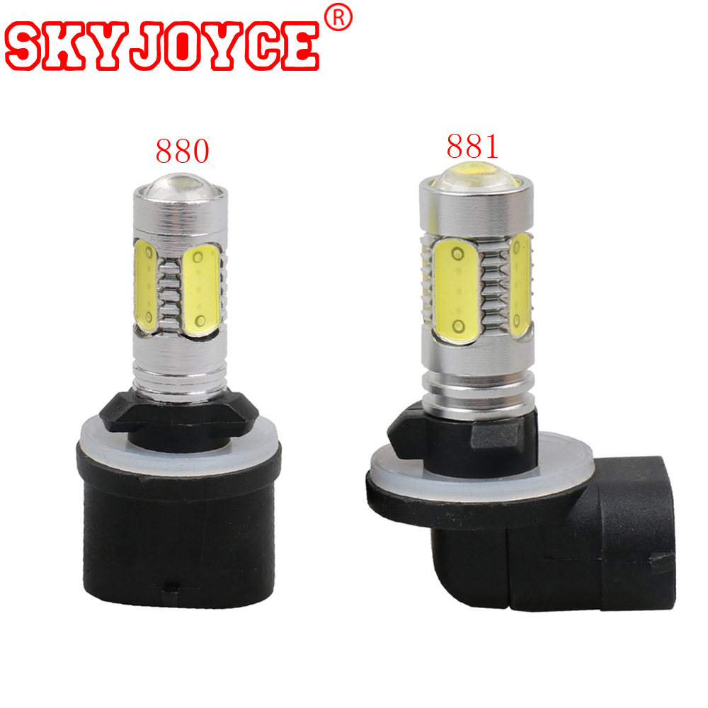 US $9 29 7% OFF|SKYJOYCE 2PCS LED light 880 led bulb 881 led fog lamp H27  Straight Bent Connector H11 9005 Yellow White Car Driving LED H16 H3-in Car