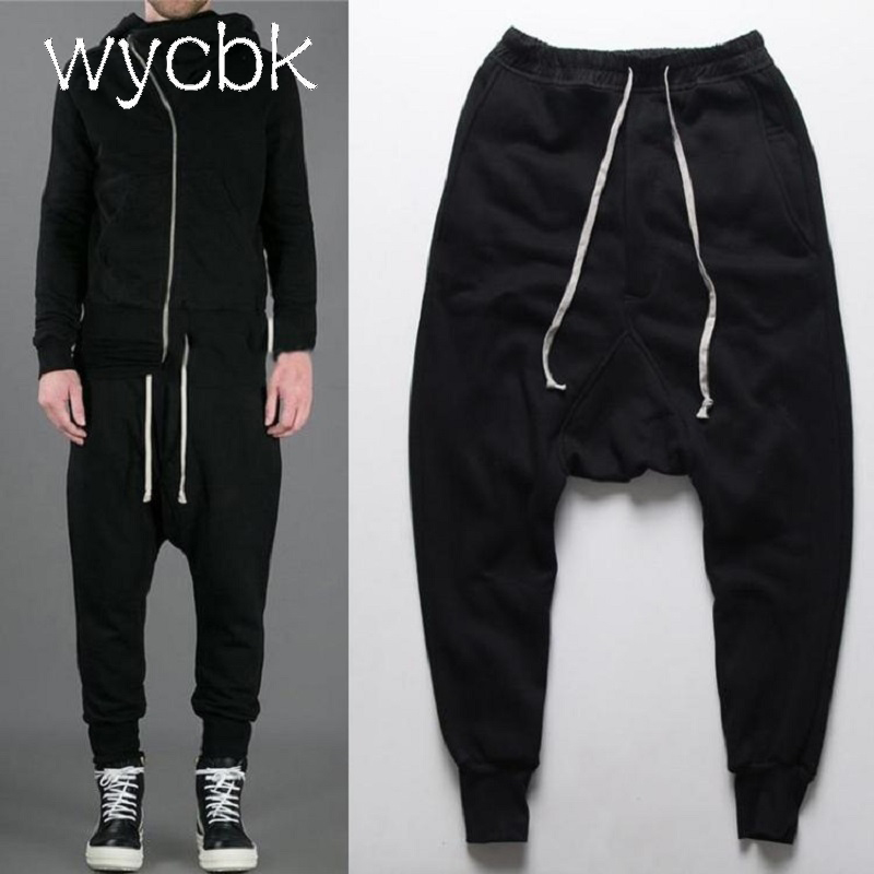 New 2017 Autumn Men Harem Pants Hip Hop Baggy Casual Men Pants Ankle Length Sweatpants Mens Joggers Pant Male Trousers M-4XL