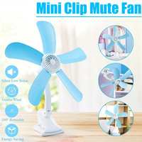 3 in 1 Multifunction Electric Fan 7/8W 4/5 Leaves Mute Wall Hanging Clip Fans Foldable Holder Air Fan US/EU Plug|Fans| |  -