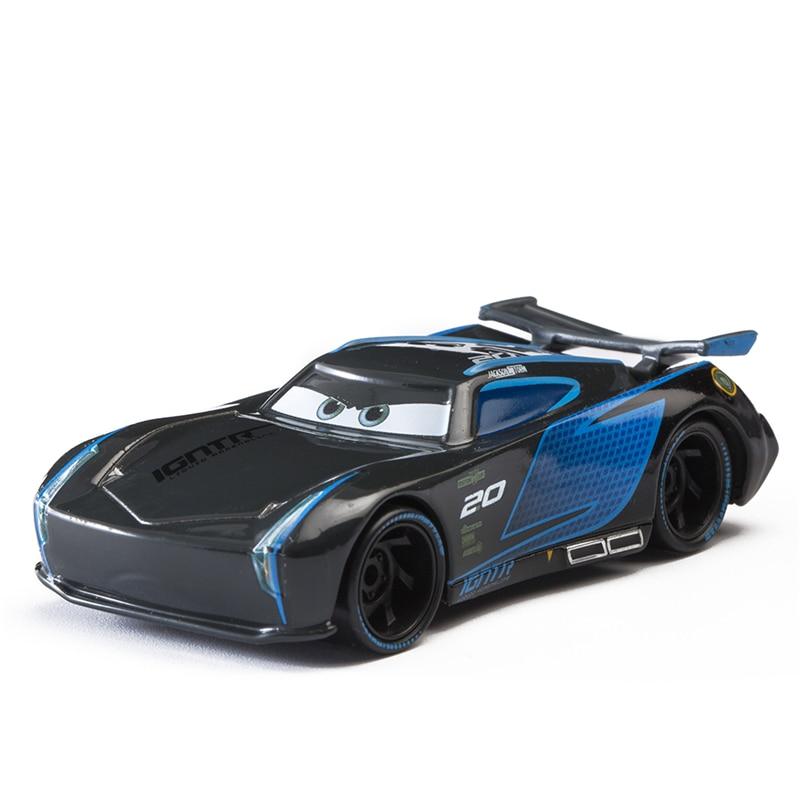 Disney Pixar Cars 3 Jackson Storm Lightning McQueen Mater Cruz Ramirez 1:55 Diecast Metal Alloy Model Toy Car Kid Gift Boy Toy