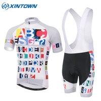 Conjuntos de Roupas de ciclismo Kits Camisa Ciclo Homens Acolchoado Shorts de Ciclismo 2017 Estilo Verão MTB Road Bike Bicicleta Define S-3XL