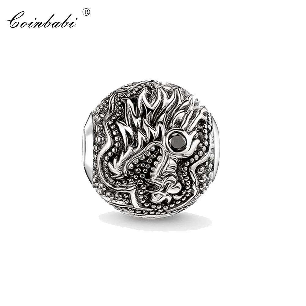 Bead Charm Dragon, Thomas Silver TS Crimp Jewelry Findings Component For Women Men Gift Fit Karma Bracelet Necklace