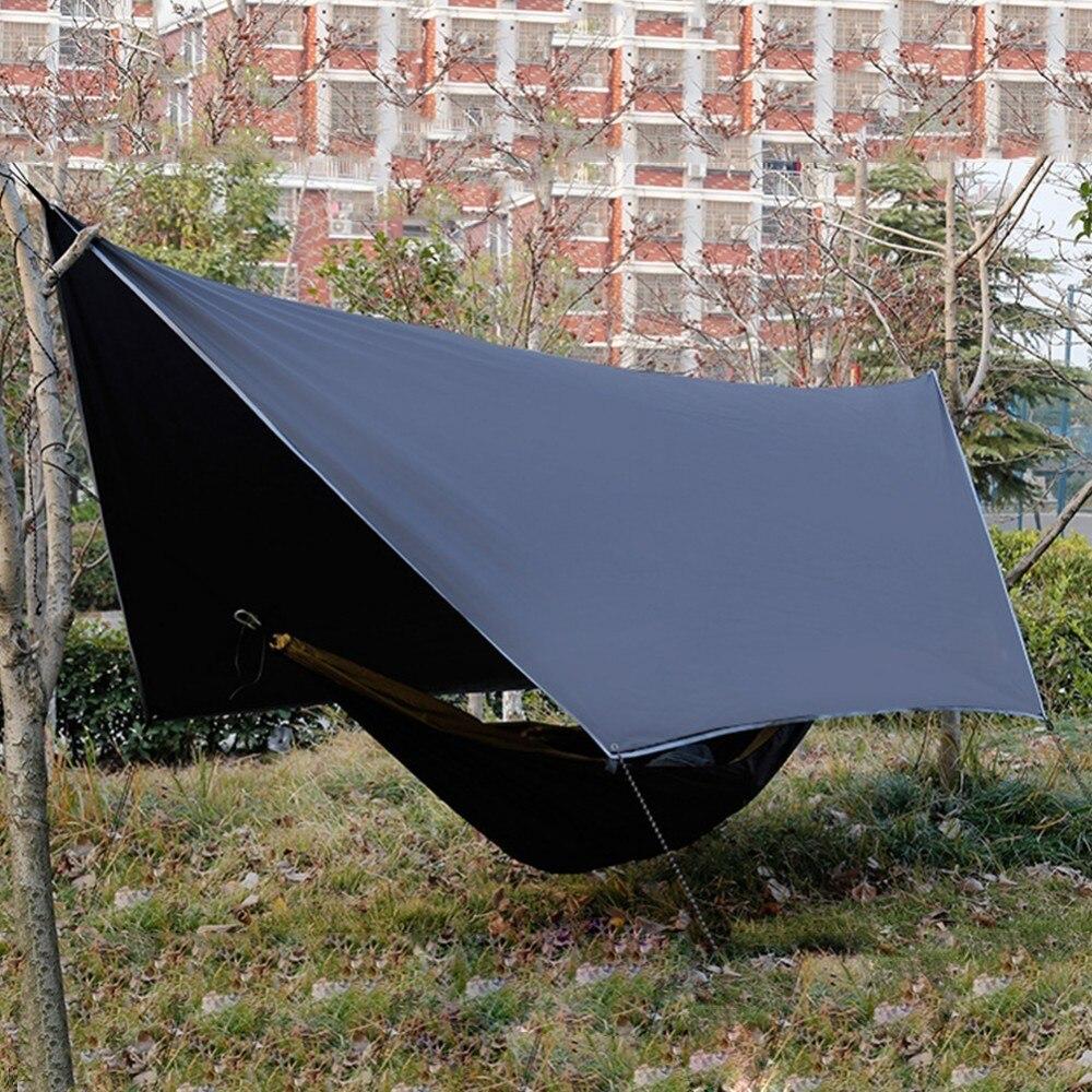 Haute qualité Camping tente Ultra-léger Plaid tissu hamac pluie mouche extérieur auvent imperméable Anti-UV Protection solaire bâche abri