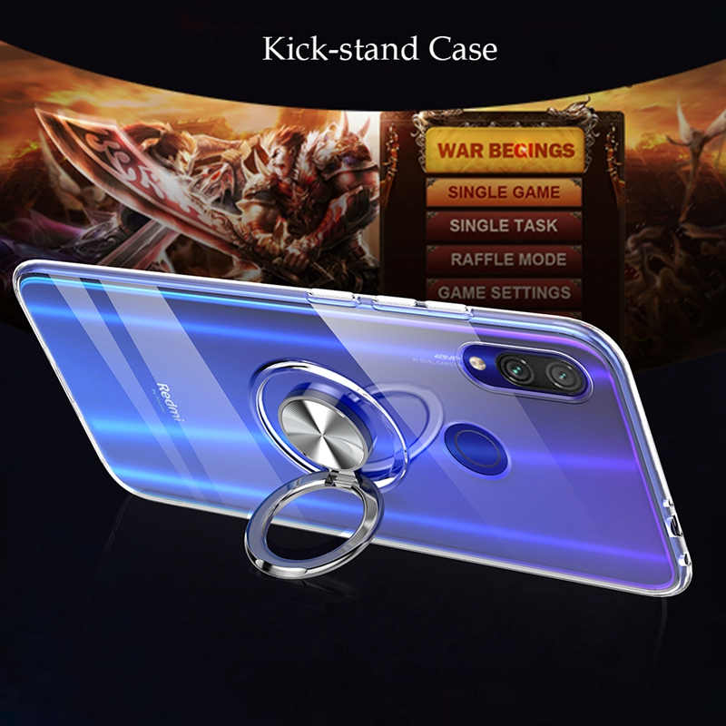 Image 3 - 360 Metal Finger Ring Magnet Case For Xiaomi 8 9 mi8lite mi9lite mi8discovery Clear Soft Silicon Cover For Xiaomi Redmi Note 7-in Fitted Cases from Cellphones & Telecommunications