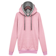Fashion New Autumn Winter Women Casual Solid Hoodies Hooded Sweatshirts Pockets Pullovers Tops SSA-19ING