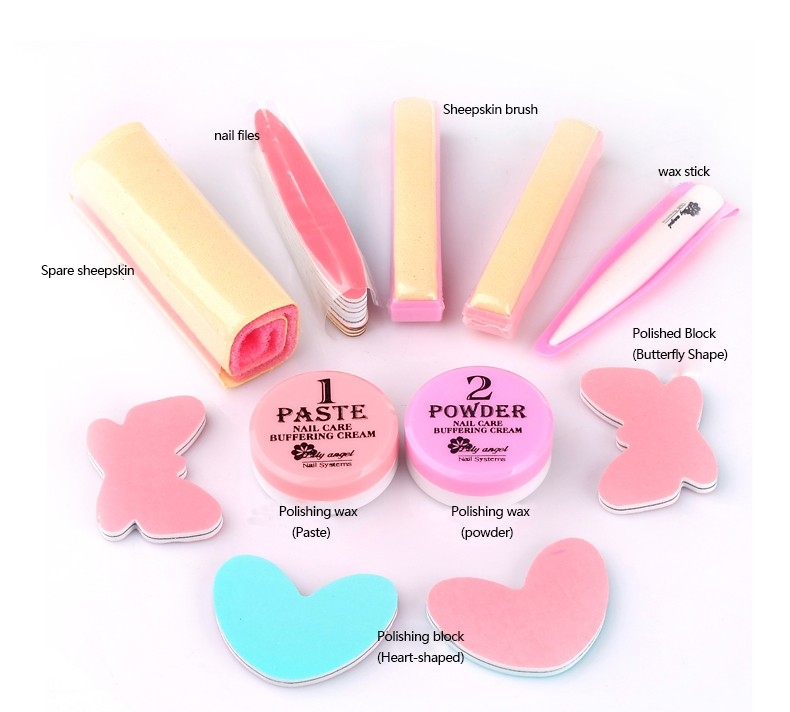 Nail Conditioner & care Nail Polishing Paste & Powder Nail art Manicure Luster Buffing file Full set of nail files Z