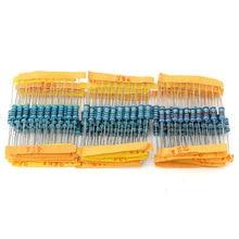 1000Pcs/lot 100Values * 10Pcs 5% 1W resistor pack set Metal Film Resistor diy Assorted Kit 1 ohm~ 1M ohm Range samples 1R 1M Ohm