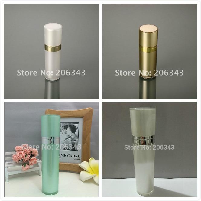 50ml pērle balta / zelta / zaļa konusa formas akrila pudele seruma - Ādas kopšanas līdzeklis