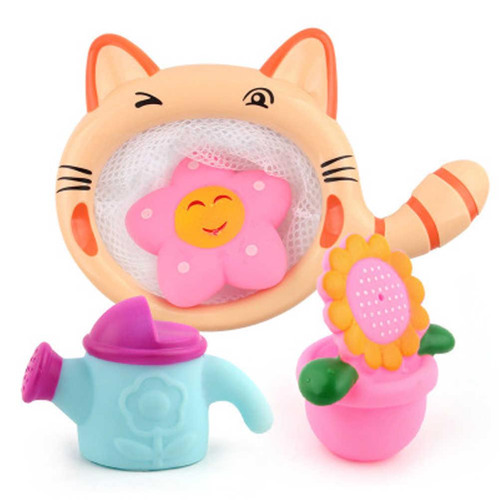 อาบน้ำของเล่นบีบเสียงเล่นน้ำเครือข่ายของเล่นกระเป๋าP Ick upเด็กของเล่นว่ายน้ำซอฟท์ลอยอาบน้ำยางอาบน้ำสเปรย์น้ำ