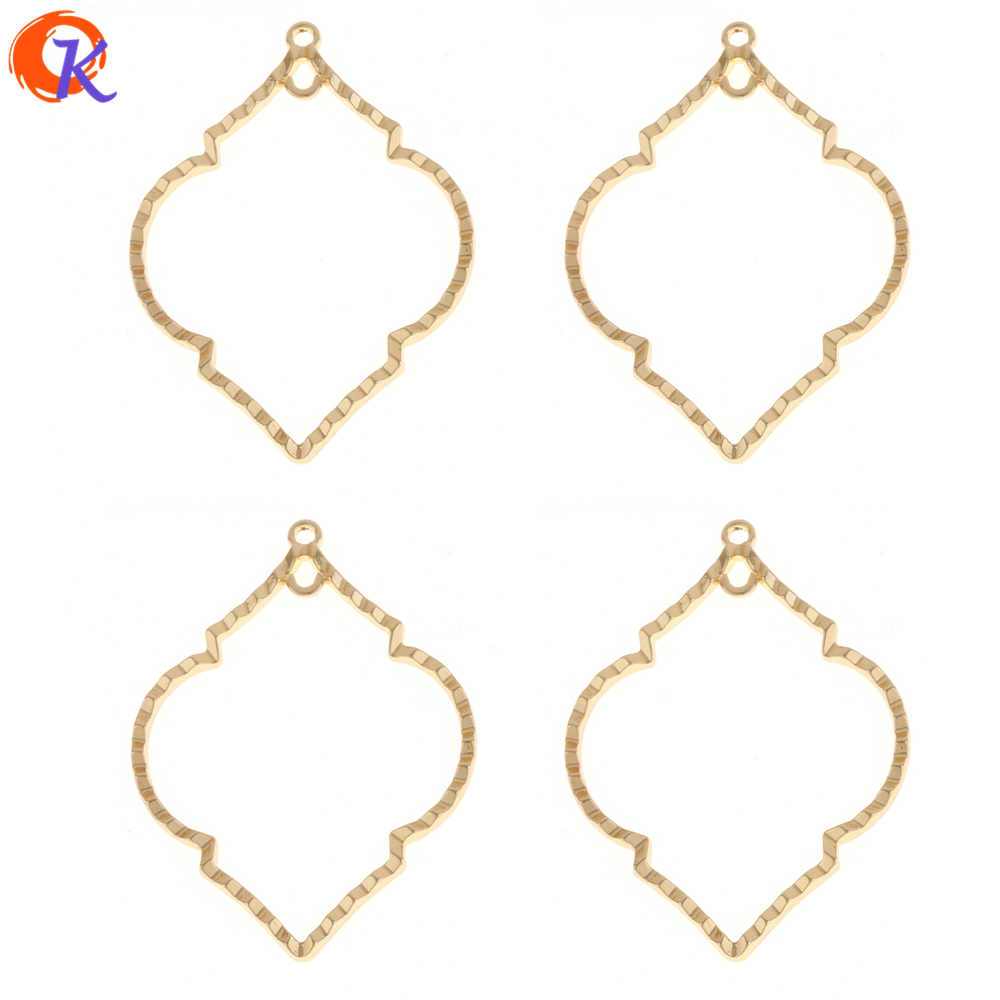 Cordial Design 50Pcs 38*52MM Jewelry Accessories/DIY Earrings/Gold Drop Shape/Earrings Base Making/Hand Made/Earring Findings